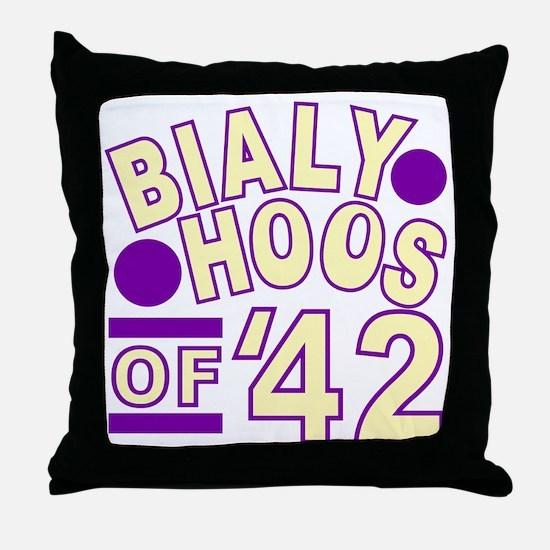 bialyhoos Throw Pillow