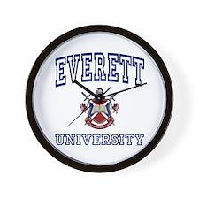 EVERETT University Wall Clock