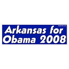 Arkansas for Obama 2008 bumper sticker