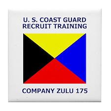 USCG Recruit Company Z175<BR> Tile Coaster