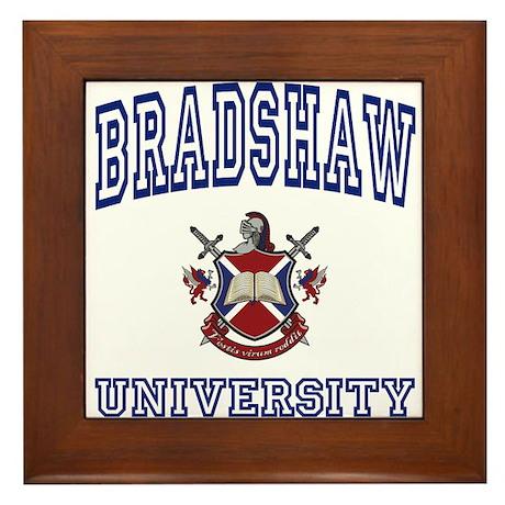 BRADSHAW University Framed Tile