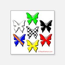"race flags copy Square Sticker 3"" x 3"""