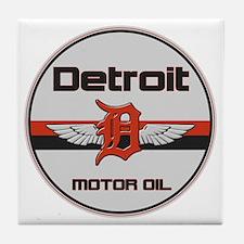 Detroit Motor Oil copy Tile Coaster