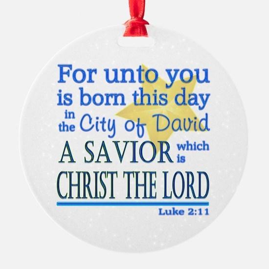 Luke 2:11 Ornament