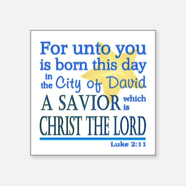 Luke 2:11 Sticker