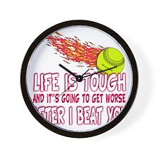 life is tough Wall Clock