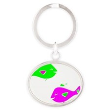 Lanas Little Fishes Oval Keychain