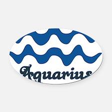 2-aquarius2 Oval Car Magnet