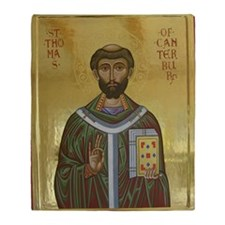 St. Thomas Becket Throw Blanket