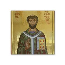 "St. Thomas Becket Square Sticker 3"" x 3"""