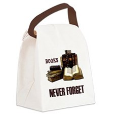 Never Forget Books-1 Canvas Lunch Bag