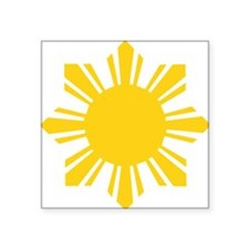 "philipines1 Square Sticker 3"" x 3"""