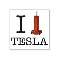 "Tesla-1 Square Sticker 3"" x 3"""
