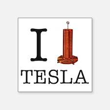 "Tesla-1 Square Sticker 3"" x 3"""