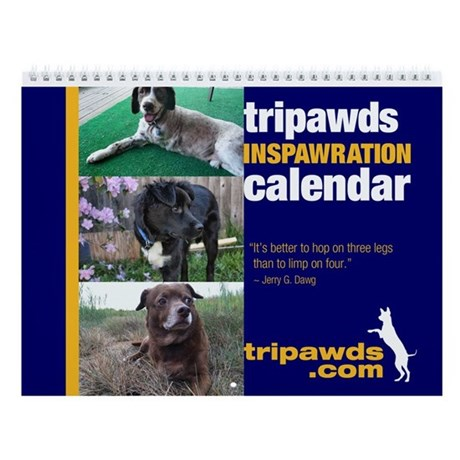 Tripawds Wall Calendar #6 - New For 2014