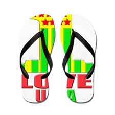 one love usa norm ipad_case Flip Flops