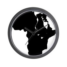 Africa and Man Wall Clock