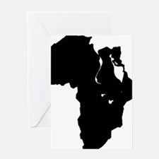 Africa and Man Greeting Card