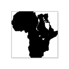"Africa and Man Square Sticker 3"" x 3"""