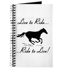 Live to Ride Horse Riding Journal