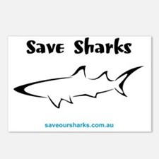 savesharks1 Postcards (Package of 8)