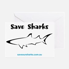 savesharks1 Greeting Card