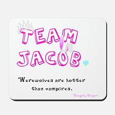 Team Jacob - by Naughty Onigiri Mousepad