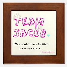 Team Jacob - by Naughty Onigiri Framed Tile