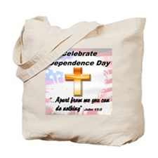 You can do nothing without Jesus Tote Bag