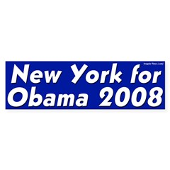 New York for Obama 2008 bumper sticker