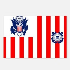 3-USCG-Flag-Ensign-Full-C Postcards (Package of 8)
