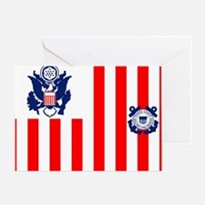 3-USCG-Flag-Ensign-Full-Color Greeting Card