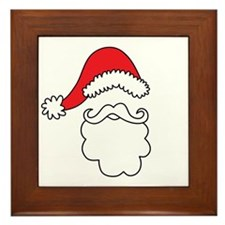 Santa Hat & Beard Framed Tile