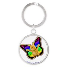 Autism Let the Rainbow in to your h Round Keychain