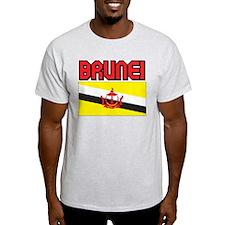 Brunei Flag Ash Grey T-Shirt