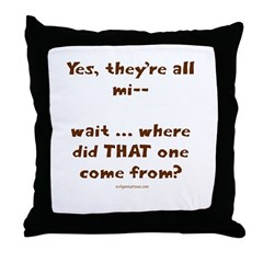 Strange kid Throw Pillow