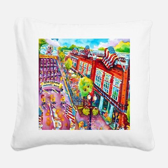 A Perrysburg Parade Square Canvas Pillow