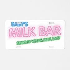tshirts-Cafe-Press-babys-mi Aluminum License Plate