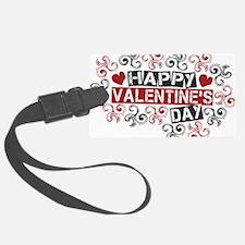 happy valentine's day twirls Luggage Tag
