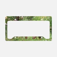 Pinecones License Plate Holder