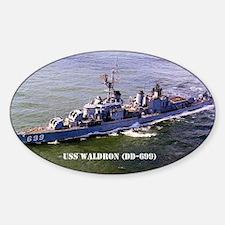 waldron note card Sticker (Oval)