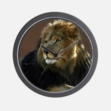 Lion In Repose Wall Clock