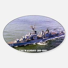waldron postcard Sticker (Oval)