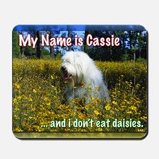 cassie in daisies Mousepad