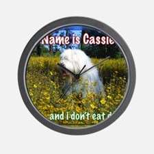 cassie in daisies Wall Clock