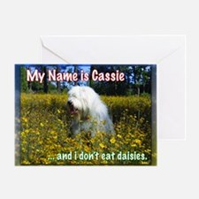 cassie in daisies Greeting Card