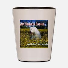 cassie in daisies Shot Glass