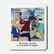 Call 911 or Parking Management Mousepad