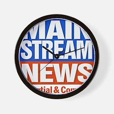 Mainstream_News Wall Clock