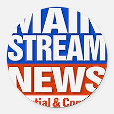 Mainstream_News Round Car Magnet